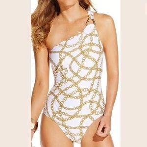 Stylish one piece bathing suit